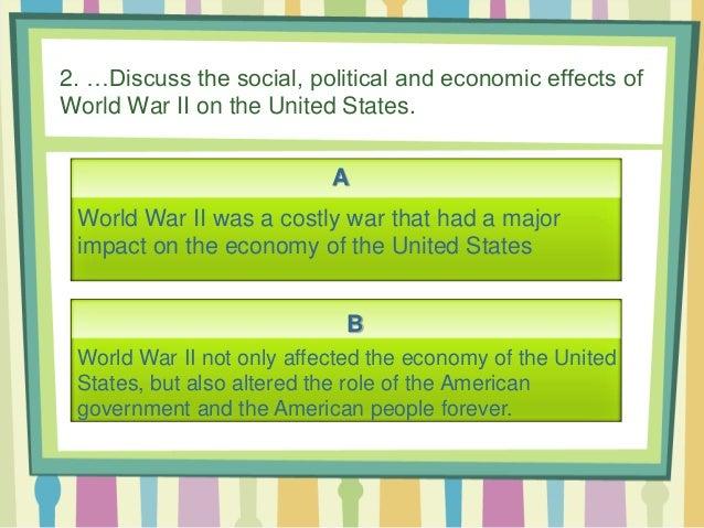 Thesis statement war economy