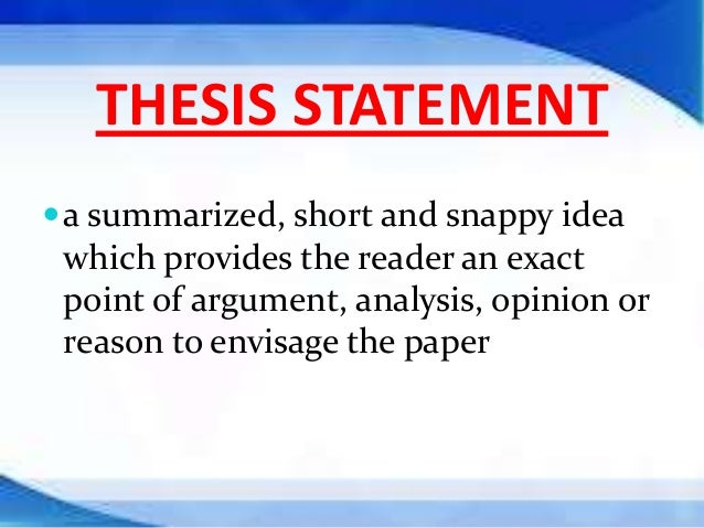 Thesis statement help?