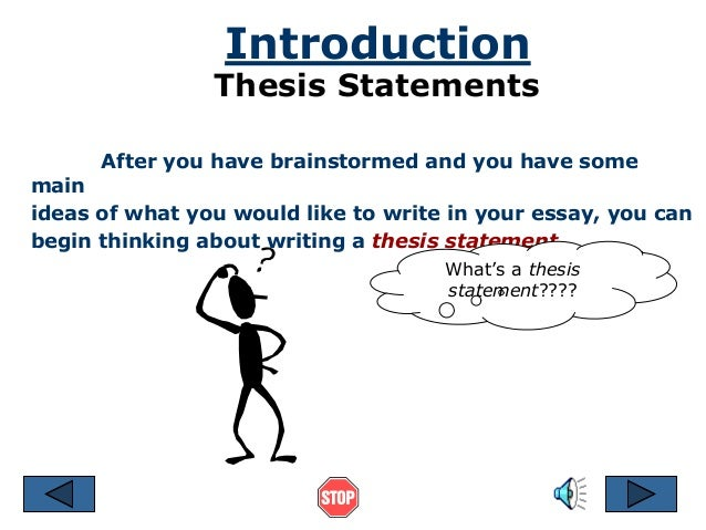 Introduction And Thesis Statement