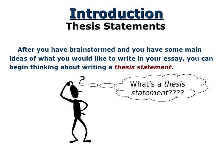 Thesis statement of an essay