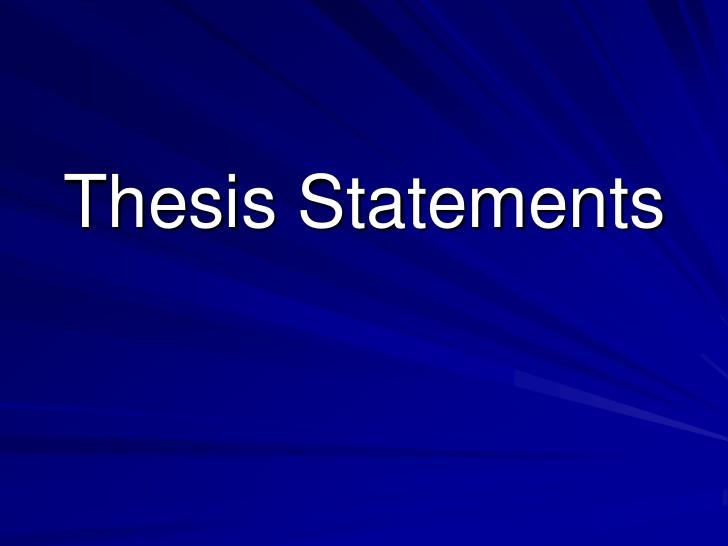 Thesis Statement |authorSTREAM | PowerPoint Presentation
