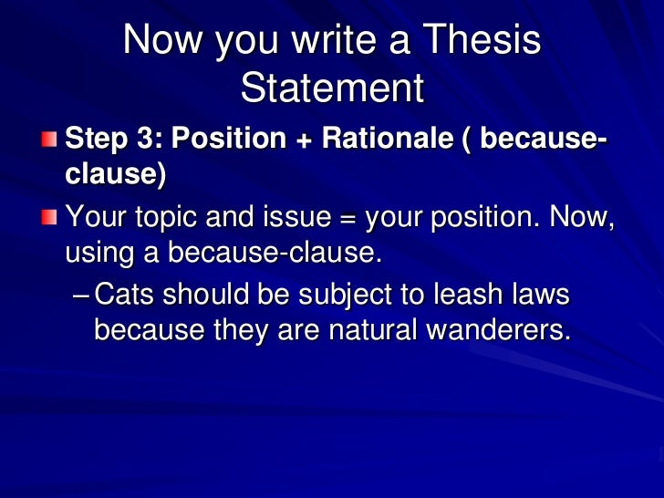 How to Write a Strong Thesis Statement - Wilfrid Laurier