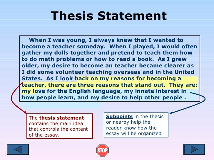 Thesis Statement For Education Essay. Argumentative Essay Examples High ...