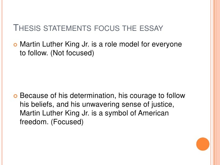 Help with thesis statement x and martin luther king jr