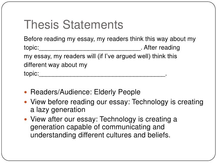 thesis statement examples for essay