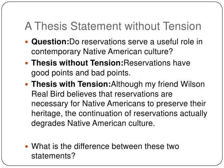 thesis statement about slavery Thesis statements the thesis statement is the most important part of your paper this illegal form of modern day slavery might finally be stopped or.