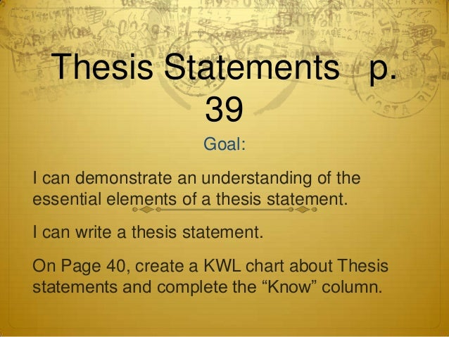 Introduction to Thesis Statements (High School)