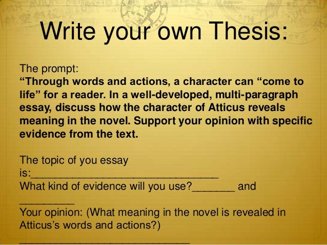 How to write your thesis statement
