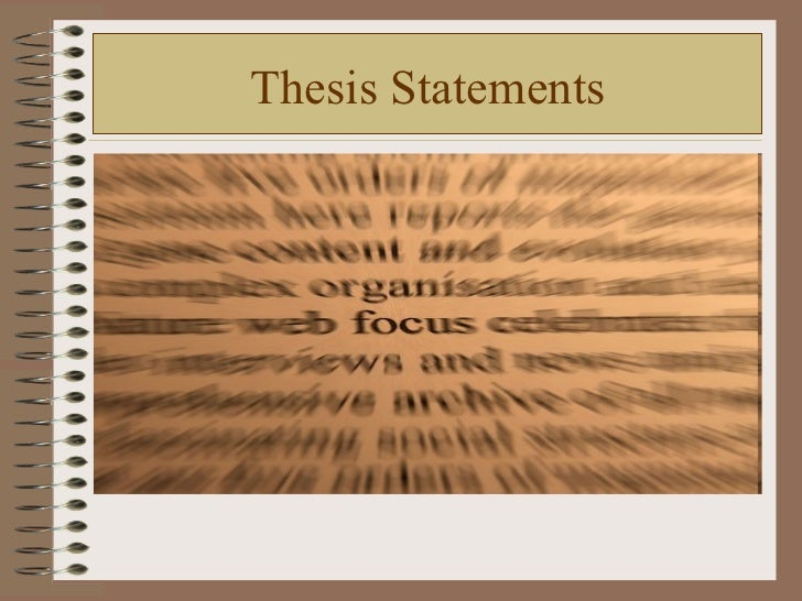 Thesis statements(1)2011pp