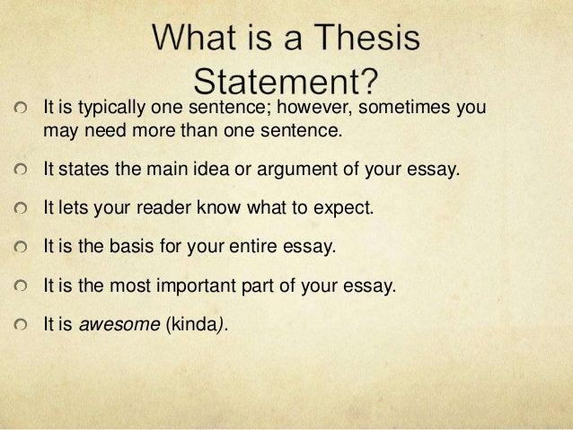 write character analysis thesis statement