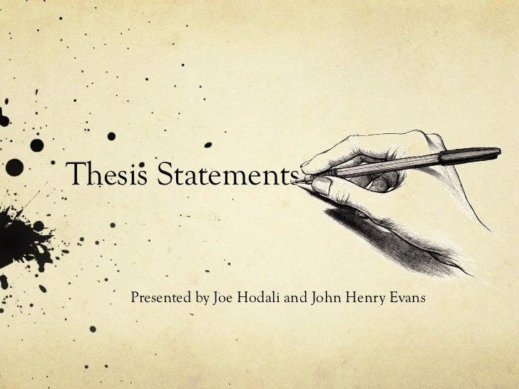 thesis statement for a novel