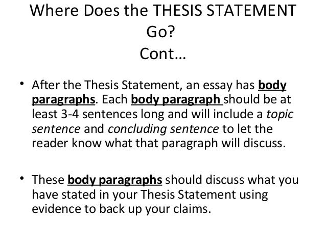 how long can a thesis statement be