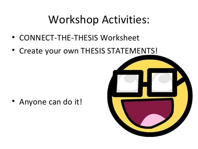Succinct Thesis Statement Examples