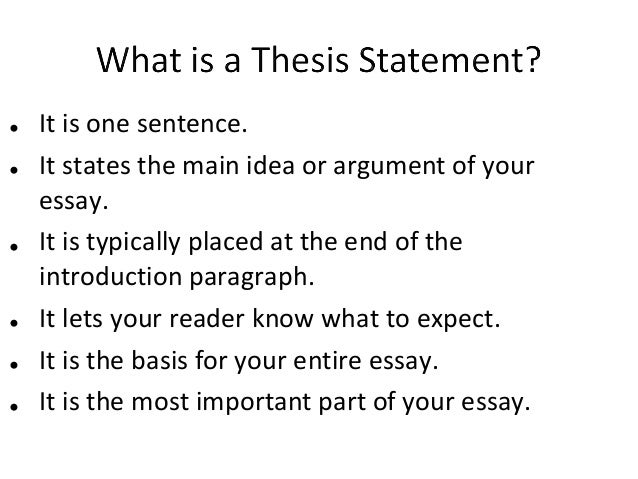 list of strong thesis statements
