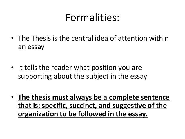 formula for creating a thesis statement