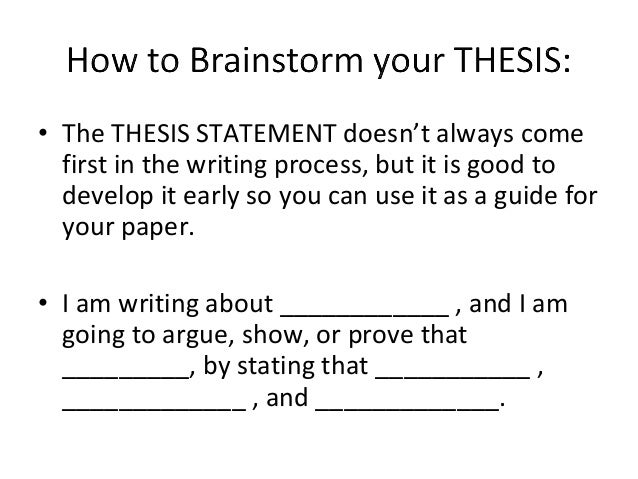 how to write a working thesis statement Instructors in the institute for writing and rhetoric believe that in fact you will find that the lack of a declarative thesis statement requires more work:.