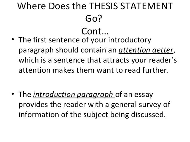 Dose anyone know what a thesis is?
