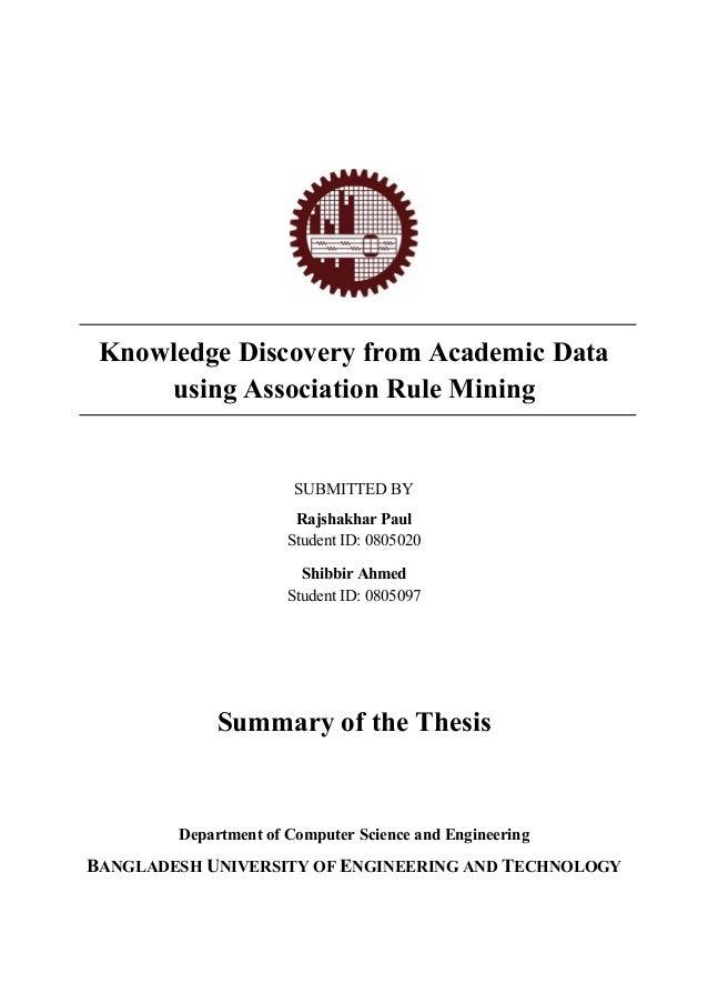 Academic thesis