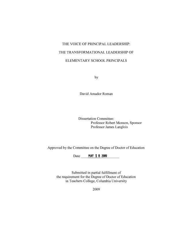 Thesis tl of elementary school