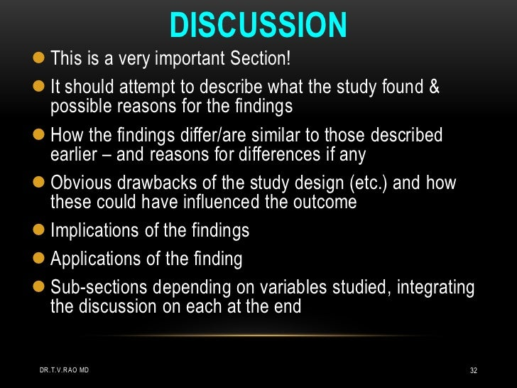 Master thesis discussion part