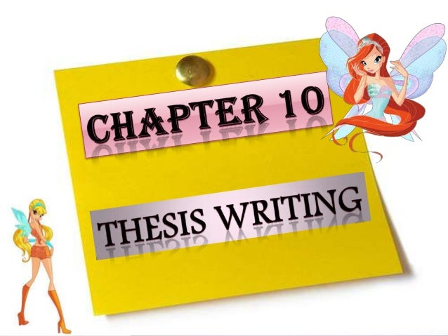 Thesis writing tips chapter 4