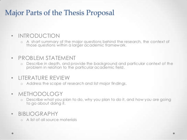 parts of a research paper thesis