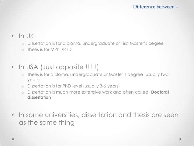 difference between dissertation thesis essay What is the Difference Between a Thesis and a Dissertation?