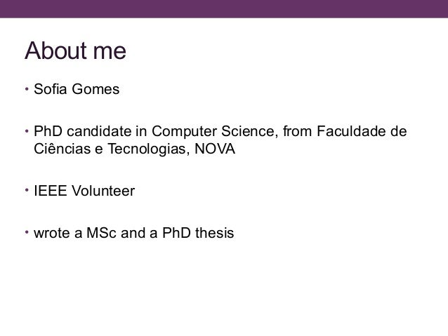 Phd Thesis Proposals Computer Science