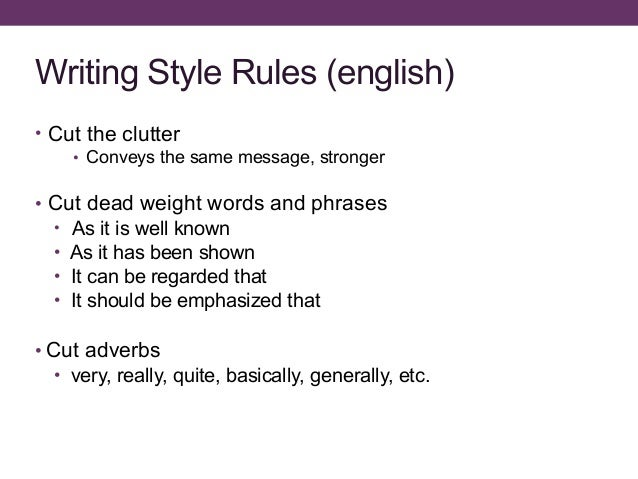Writing styles in english