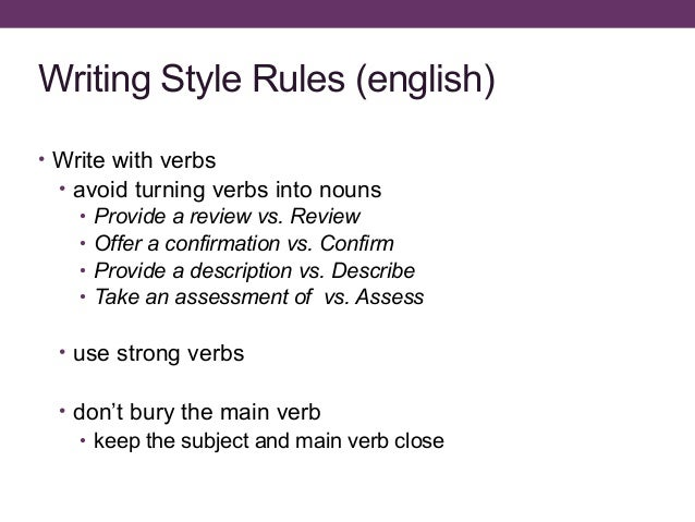 Thesis writing rules