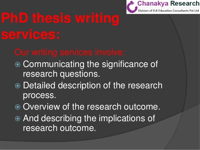 phd thesis writers in india