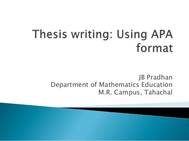Apa style for thesis paper