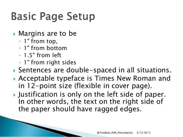 Proper margins for essay