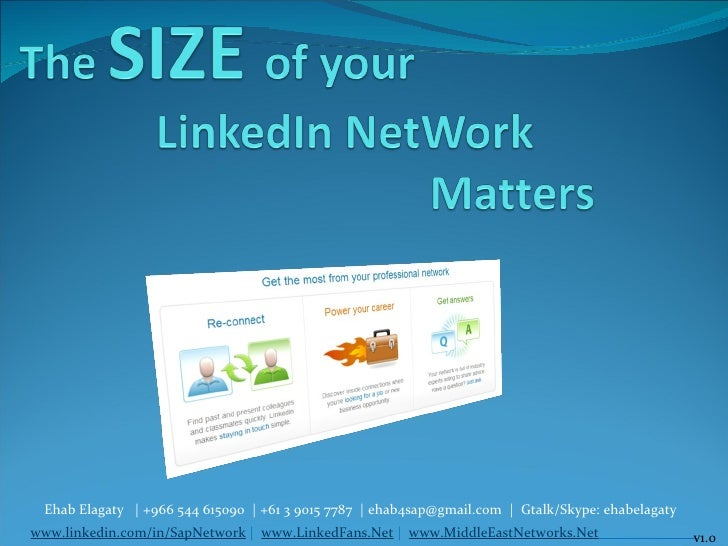 The SIZE of your LinkedIn Network Matters