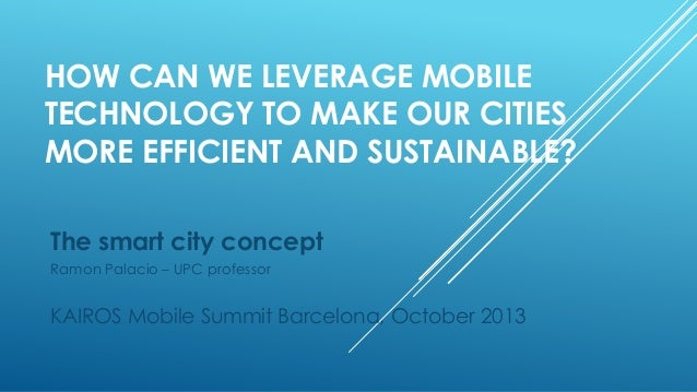 The smart city concept   kairos mobile summit