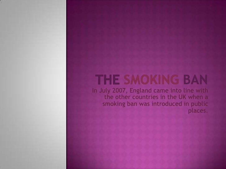 essay on public smoking ban