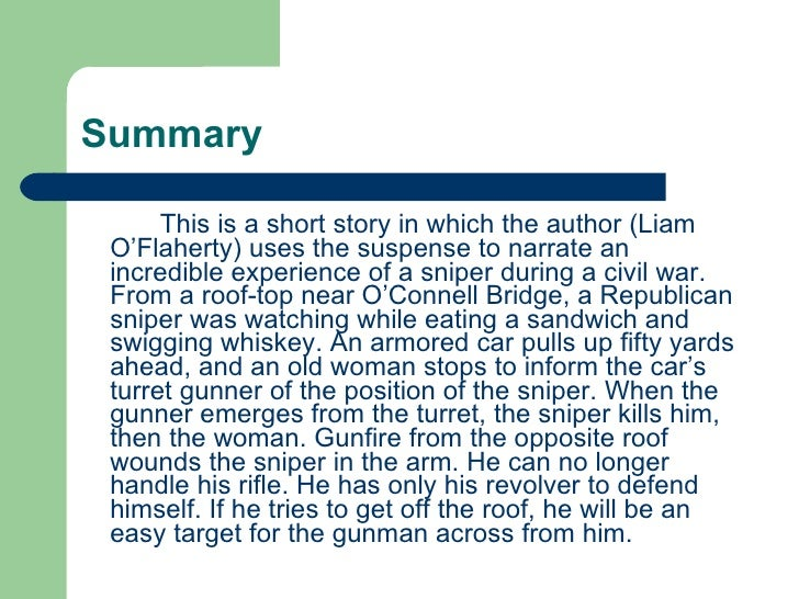the effect of surprise in the sniper a short story by liam oflaherty A short story the sniper part 1: neither is mere surprise the sniper by liam o´flaherty - introduction to the short story and.
