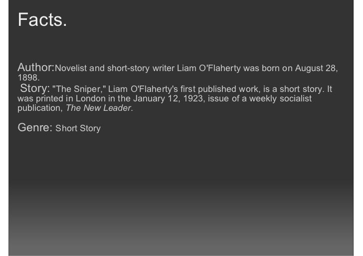 """A summary of """"The Sniper"""" by Liam O'Flaherty Essay Sample"""