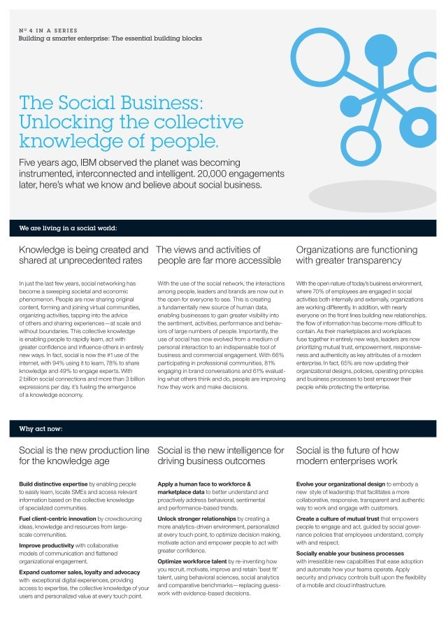 The social business - Unlocking the collective knowledge of people
