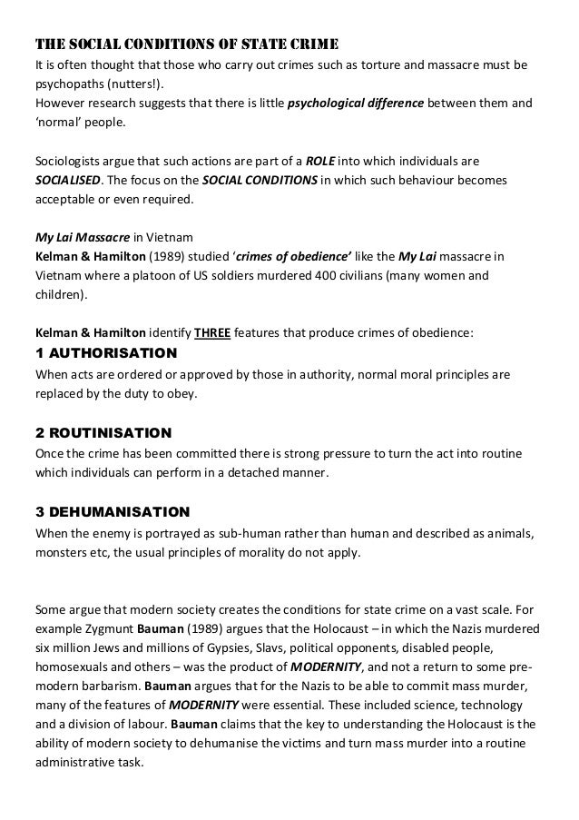 8 The Social Conditions of State Crime HANDOUT