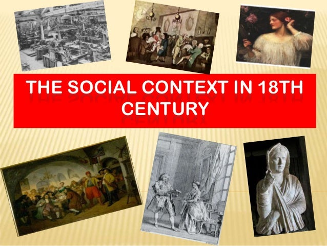 Social problems during the 18th Century and Restoration?