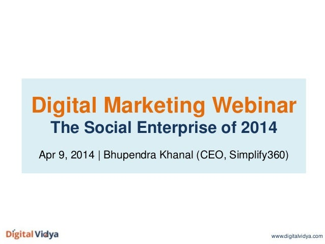 The Social Enterprise of 2014