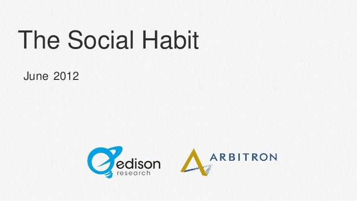 The Social Habit 2012, by Edison Research