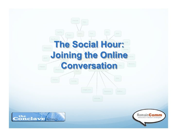 The Social Hour-Joining the Online Conversation