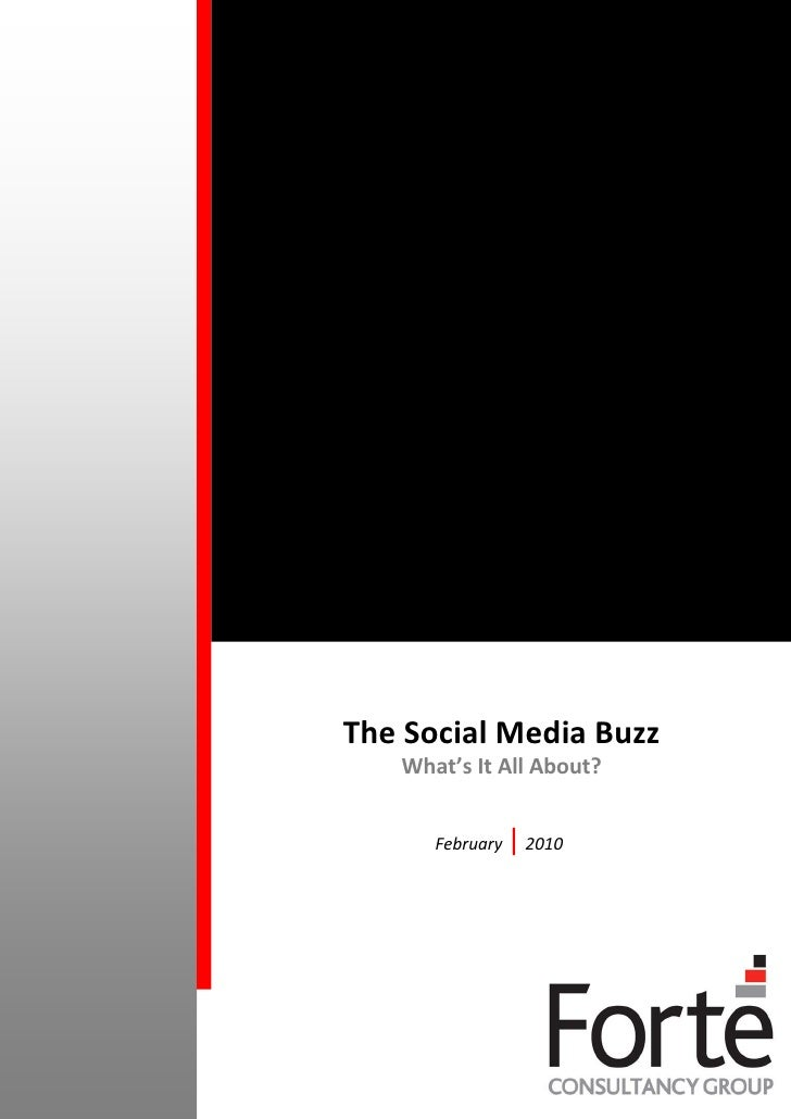 The Social Media Buzz - What's It All About?