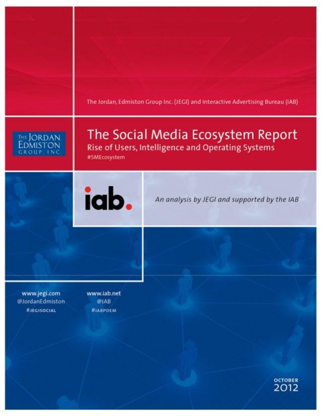 The social media ecosystem report