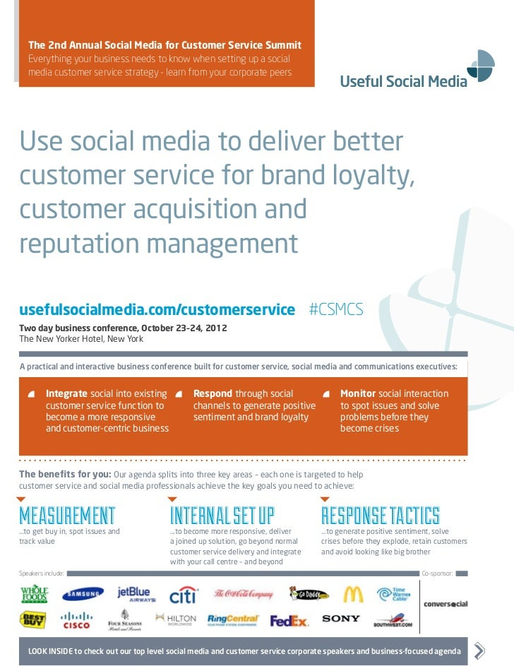 The Social Media for Customer Service Summit