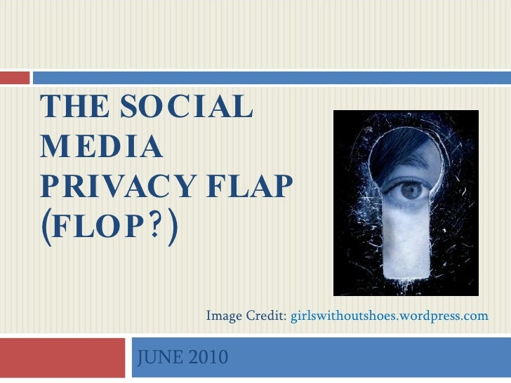 The Social Media Privacy Flap