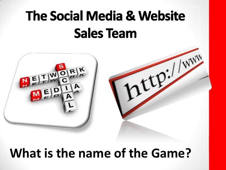 Social Media & Website The Sales Team