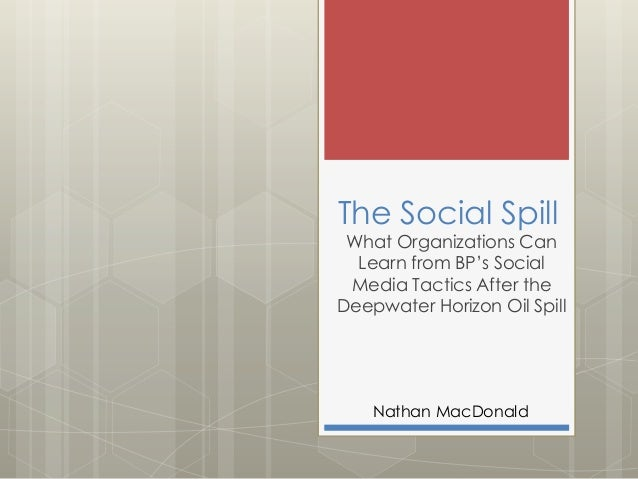 The Social Spill  What Organizations Can Learn from BP's Social Media Tactics After the Deepwater Horizon Oil Spill  Natha...
